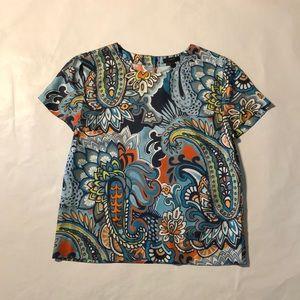 J.Crew Silk Short Sleeve blouse